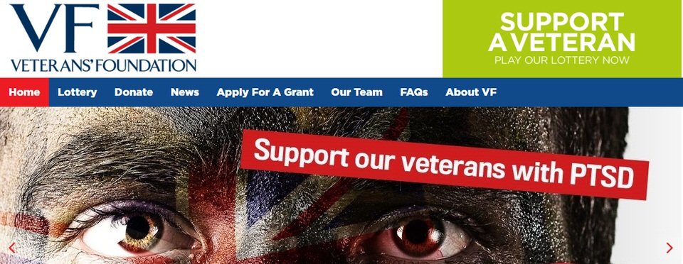 The Verterans Foundation Lottery website Image