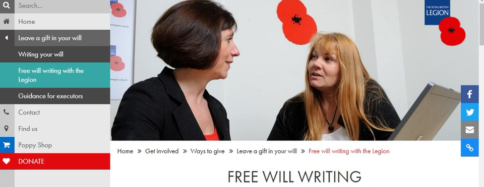 The British Legion Free Will Writing Service Image